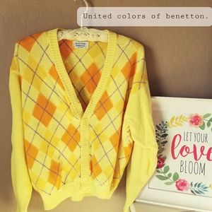 ⭐Vintage United colors of benetton cardigan⭐